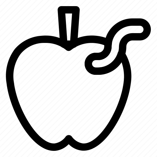 apple, apples, caterpillar, fruit, spring icon