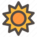 light, season, spring time, summer, sun icon