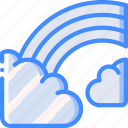 cloud, raindow, sky, spring, weather icon