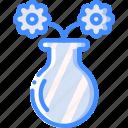 easter, flower, spring, vase icon