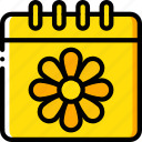 calendar, date, easter, spring icon