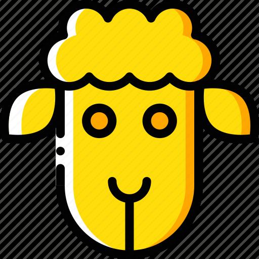 easter, lamb, sheep, spring icon