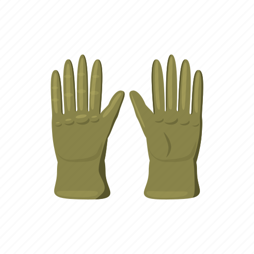 cartoon, finger, glove, hand, protection, protective, safety icon