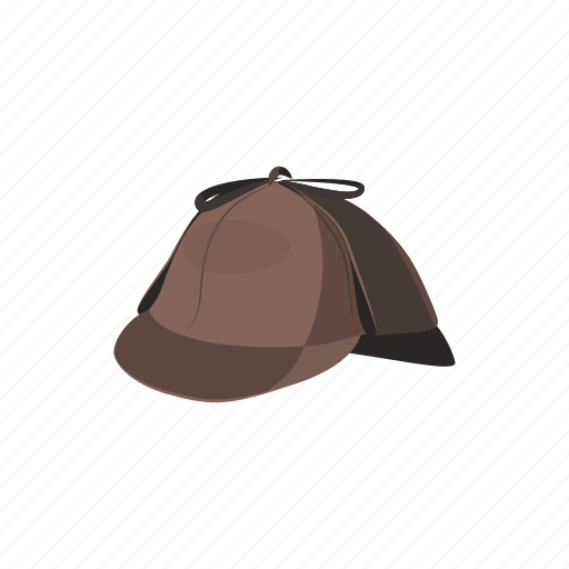 cartoon, detective, glass, hat, holmes, magnifying, sherlock icon