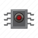cartoon, circuit, computer, electronic, information, processor, spy icon