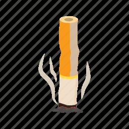 ash, butt, cartoon, cigarette, filter, nicotine, tobacco icon