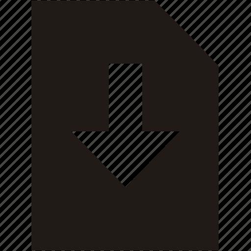 donwload, file icon