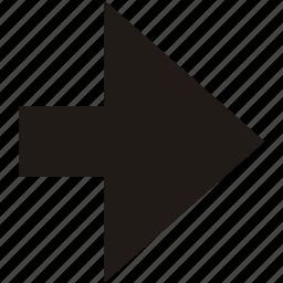 arrow, forwards, navigation, right icon