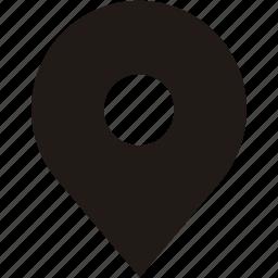 address, gps, location, navigation, place, pointer icon