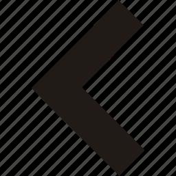 arrow, back, left, navigation icon