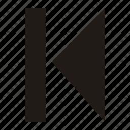arrow, left, rewind icon