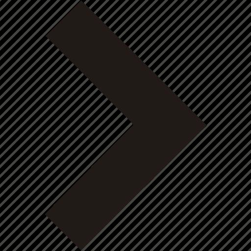 arrow, navigation, right icon