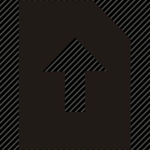 document, file, upload icon