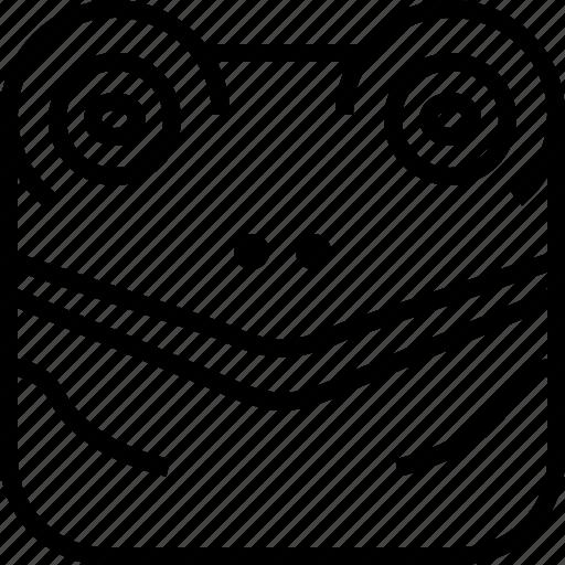 animals, avatar, frog, head, pond, square, yumminky icon