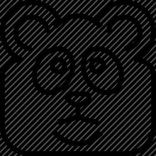animals, avatar, bamboo, head, panda, square, yumminky icon
