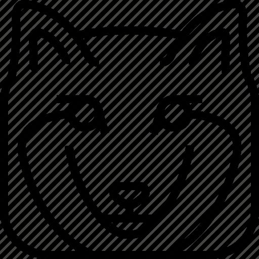 animals, avatar, head, square, wild, wolf, yumminky icon