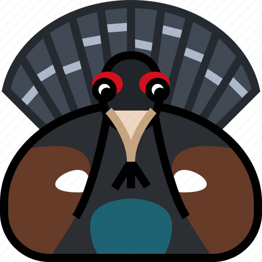 animals, bird, capercaillie, forrest, square, wild, yumminky icon