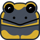 animals, avatar, head, lizard, salamander, square, yumminky icon