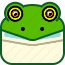 animals, avatar, head, lizard, square, wild icon