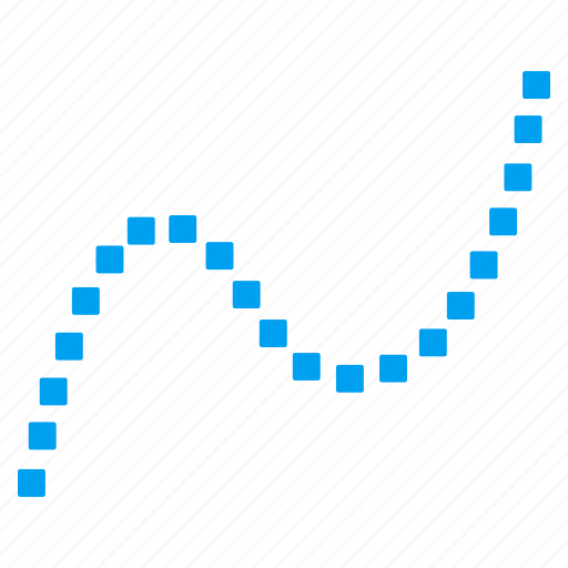 chart, curve, diagram, dots, dotted plot, function, graph icon
