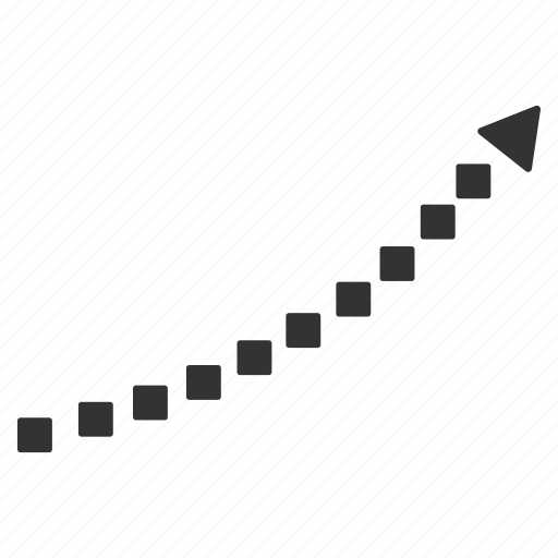 chart, curve, dots, dotted plot, graph, growth, trend icon