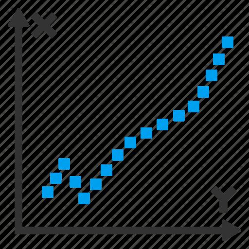 analytics, diagram, draw, function plot, line graph, math chart, statistics icon