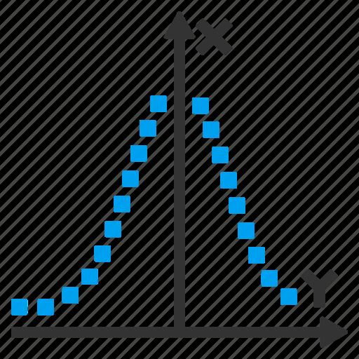analytics, chart, diagram, gauss distribution, graph, normal, statistics icon