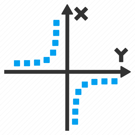 analysis, chart, draw, graph, hyperbola, hyperbolic function, plot icon