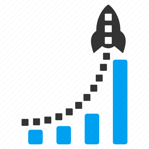 bar chart, business, graph, report, rocket start, statistics, success icon