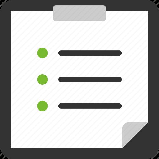 check, checklist, document, file, list, page icon