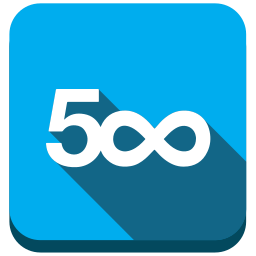 500px, 500px.com, marketplace, photography icon