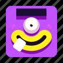 alien, avatar, cartoon, monster, purple, smile icon