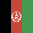 afghanistan, flag, square icon