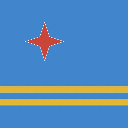 aruba, flag, square icon