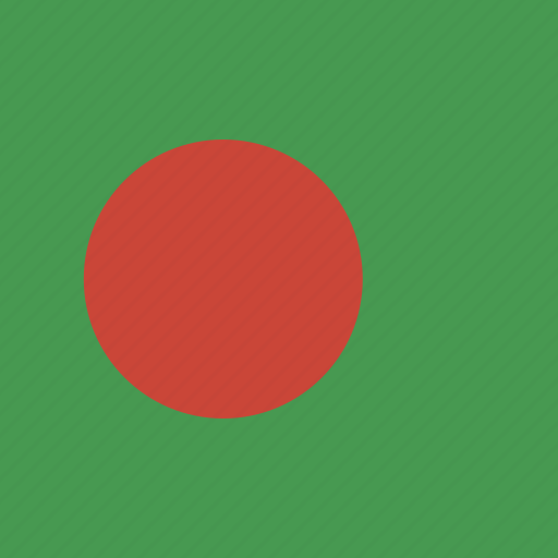 bangladesh, flag, square icon