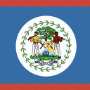 belize, flag, square icon