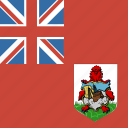 bermuda, flag, square icon