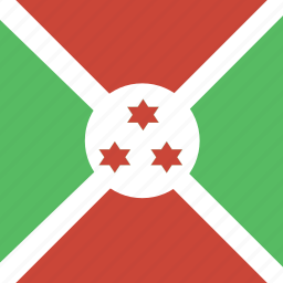 burundi, flag, square icon