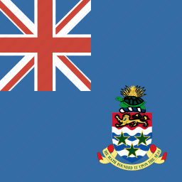 cayman, flag, islands, square icon