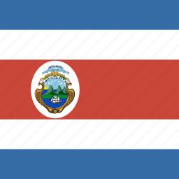 costa, flag, rica, square icon