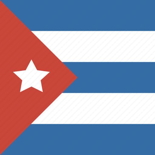 cuba, flag, square icon