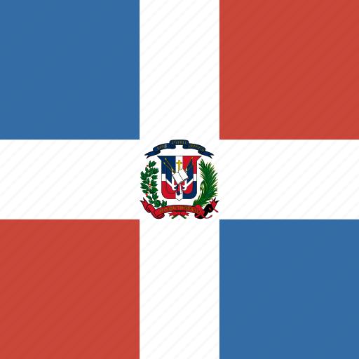 dominican, flag, republic, square icon