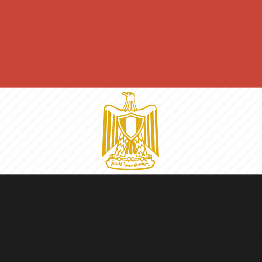 egypt, flag, square icon