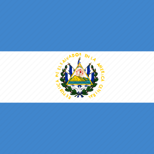el, flag, salvador, square icon
