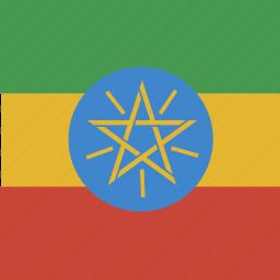ethiopia, flag, square icon