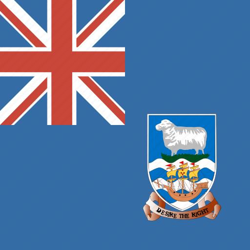 falkland, flag, islands, square icon