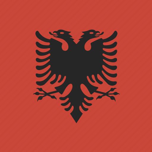 albania, flag, square icon