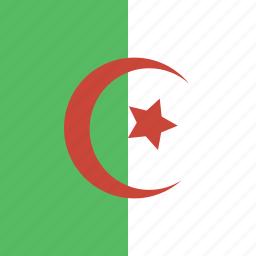 algeria, flag, square icon