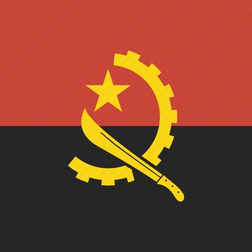 angola, flag, square icon