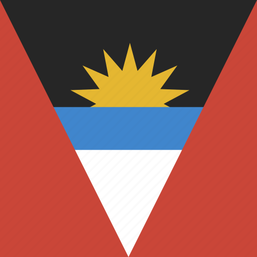 antigua, barbuda, flag, square icon